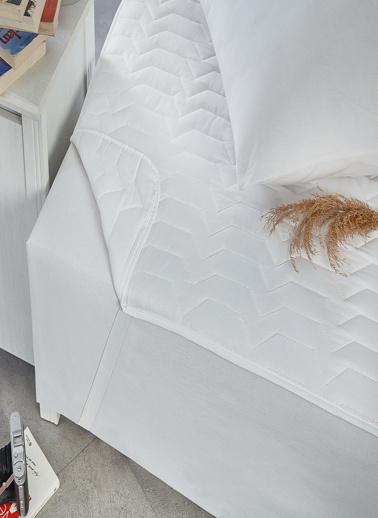 Komfort Home Çift Kişilik Yatak Koruyucu Ped 160x200 CM (DTX) Renkli